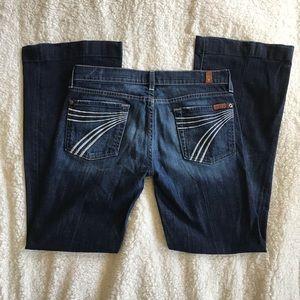 7Fam Dojo Dark Wash Flare Leg Jeans